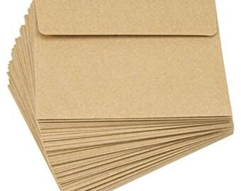 50 CT A2 Envelopes, 4.375 x 5.75-Inch, Kraft, Envelopes, kraft envelopes, stationary, Kraft Paper, Rustic, Office Supplies, Party, Wedding