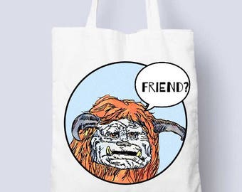 Ludo from Labyrinth movie cotton tote bag