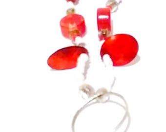 Rose Pendant Floral Necklace Set