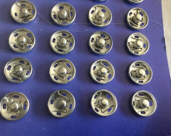 Press button 1 cm diameter silver