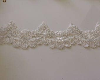 White lace guipure 8 cm in width