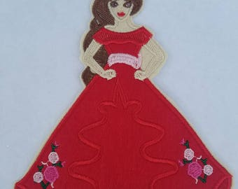 Elena of Avalor iron on inspired patch, Elena of Avalor birthday party inspired large applique
