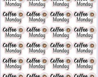 Coffee Monday | Planner Stickers