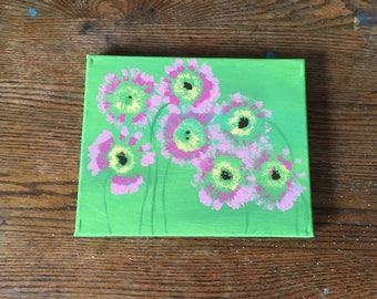 Original abstract flower painting