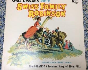 Swiss Family Robinson, Walt Disney 1963 Vinyl LP Album, very good condition
