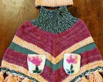 wool poncho and felt