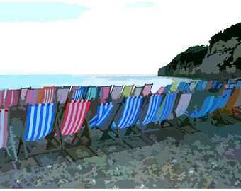 Original Seaside Themed Decorative Print  BI002