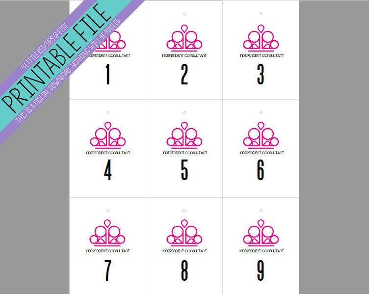 Simplicity image in free printable live sale numbers