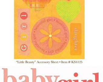 Plank cut-outs, die cuts & title baby girl My Mind's Eye scrapbooking