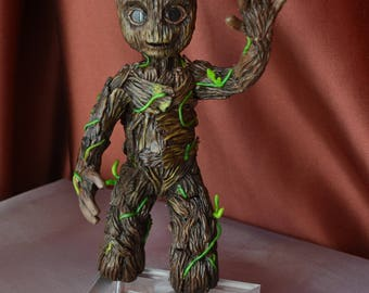 Groot Statue Guardians Of The Galaxy Vol.2 Baby Groot Figurine