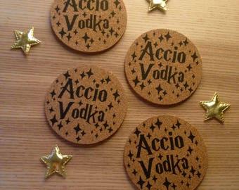 Blank - Workshop Accio Vodka (set of 4) coasters