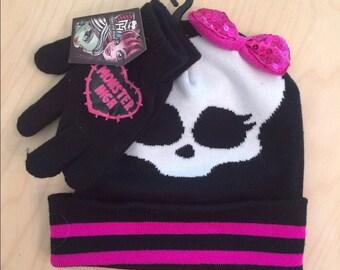 New Monster High Hat & Gloves Set