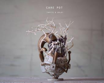 Care pot (talk) Antique white