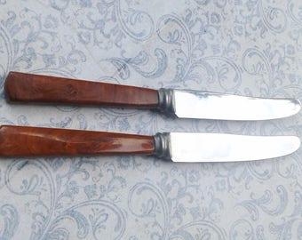 2 vintage blades, stainless, Stroma