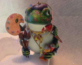 Vintage artistic frog waiting for a new home, Polonaise