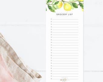 Lemon Grocery List
