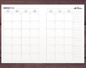 A5 Two-Page Monthly Planner / London Skyline