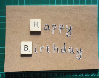 Happy Birthday Scrabble