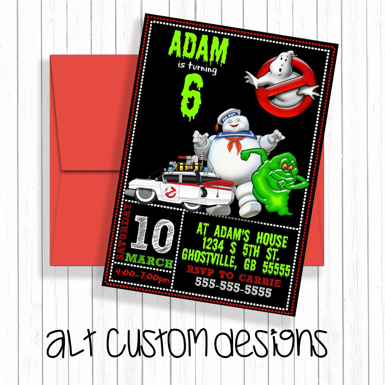 Ghostbuster invitations printable ghostbusters birthday