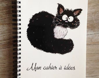 Notebook with cat in the plastron ideas