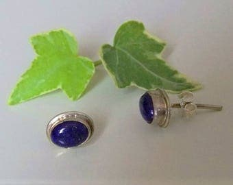 Silver earrings with lapis lazuli. Silver Jewellery. Silver earrings with lapis lazuli. Silver jewelry.