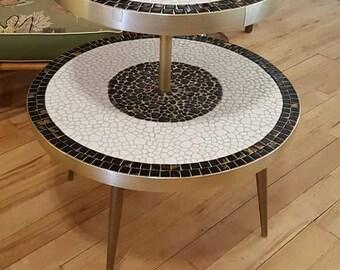 Mid Century Modern TieredTile Table