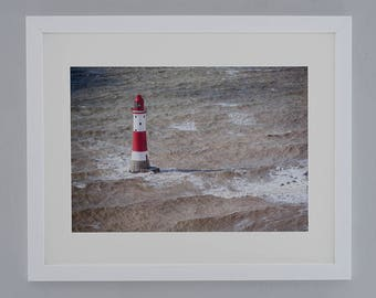 Beachy Head lighthouse- FREE POSTAGE- framed print- wall art- photography