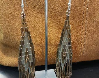 Beads Long Earrings