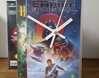 Vintage Retro Star Wars The Empire Strikes Back Original VHS Case Clock. Freestanding Desk Clock. Great gift! Mancave, Office, Bedroom!