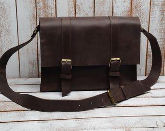 Messenger bag  laptop bag  leahter bag for men  leather messanger Shoulder Bag  brother gift  Leather Satchel Bag   Men Messenger Bag