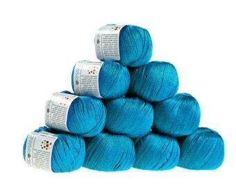 10 x 50 g knitting wool cotton twinkle, #125