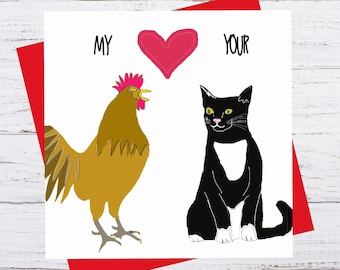 Love Handles - My cock loves your pussy - Valentine's Day Card - romance birthday
