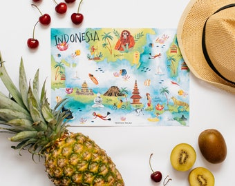 Map of Indonesia - Indonesia Illustrated map