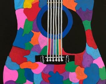 Colorful Acoustic Guitar