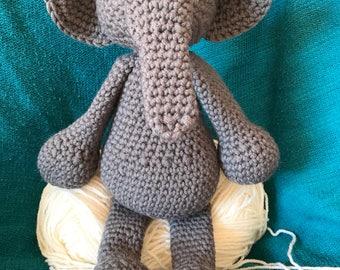 Crochet Elephant Toy in Chunky Wool