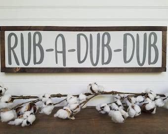 rub a dub dub bathroom sign bathroom wall decor bathroom decor bathroom