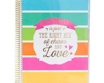 18 Month Creative Year Family Planner, 2017-2018 Planner, Life Planner, Personalized Planner, 2018 Planner, 2017 Planner