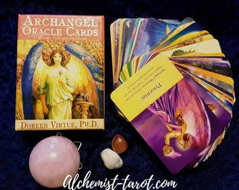 Archangel Oracle Card Reading  1,3 or 5 Cards Email with photos by Claircognizant Tarot Reader of 27 years experience