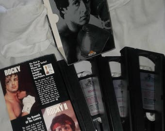 VHS  Rocky Collection~plus Rocky CD~ Ships Fast and Free!!