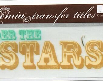 Under The Stars Title Rub On Transfer Embellishments Cardmaking Crafts My Mind's Eye Bohemia