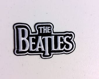 A1/Free shipping iron on patch /the beatles/black