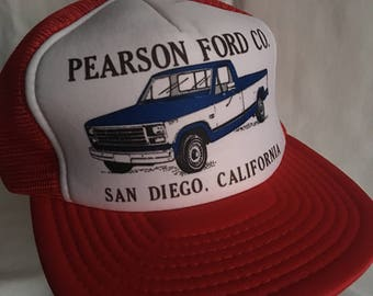 Vintage Ford Motor Company trucker hat-Pearson Ford