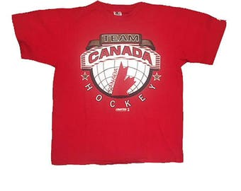 Vintage Starter Canada Hockey shirt Team Canada 90's 1991 Starter brand logo Olympics Size Large