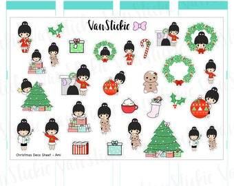 Christmas Chibi Deco Sheet