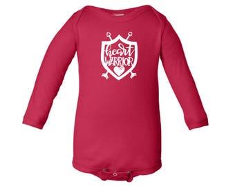 Heart Warrior | CHD awareness bodysuit