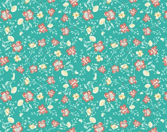 Wind Melody Carmin - Anna Elise by Bari J. from Art Gallery Fabrics - Bari J. Fabrics - Art Galley Fabric - Anna Elise Fabric - Floral Fabri