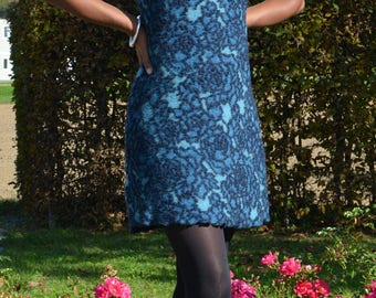 Walkkleid, wool dress, wool tunic
