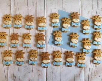 personalised giraffe cookies