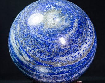 """4.4""""Best Lapis Lazuli Sphere/Lapis Lazuli Crystal Ball/Healing Crystal Sphere/Wiccan/Pagan/Home Decor/Lapis Crystal Sphere/Gift for her4230"""