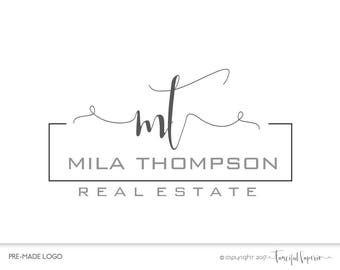 Premade Real Estate Agent Logo, Real Estate Agency, Real Estate Logo, Broker Logo, Realtor Logo, Home Selling Logo, Real Estate Agency Logo